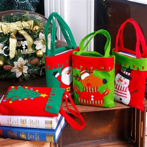 christmas dinner table decoration candy bag thickened non
