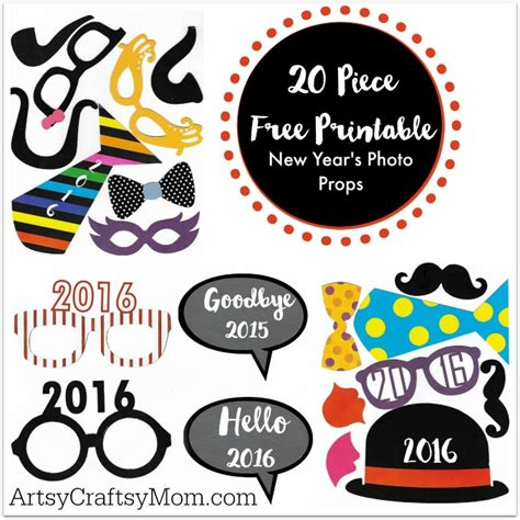 printable new years eve photo booth props 2016 20 free printable new year s photo props artsy craftsy mom