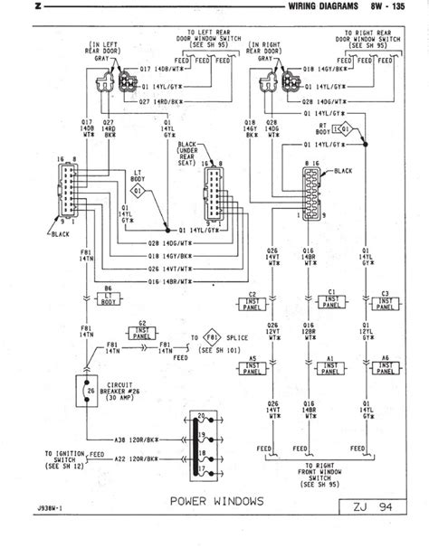 98 jeep power window wiring diagram wiring