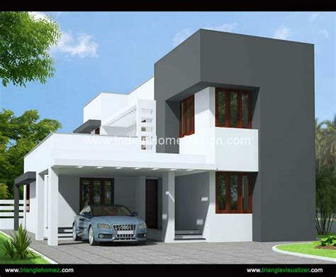 1600 sqft 3 bhk budget house design from triangle visualizer