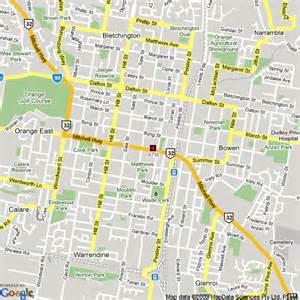 map of orange nsw hotels accommodation