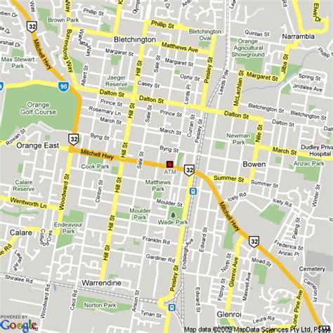 orange map map of orange nsw hotels accommodation