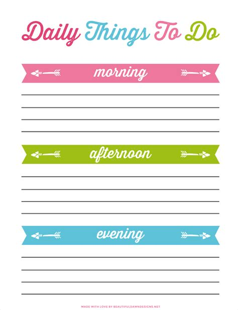 daily to do list daily to do list printable for free beautiful dawn designs