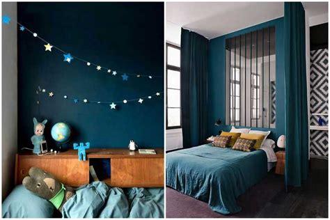 chambre bleu canard deco bleu canard et gris