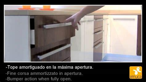 guide cassetto emuca vantage guide cassetto chiusura rallentata