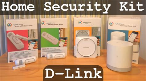 d link home security kit unboxing configuration