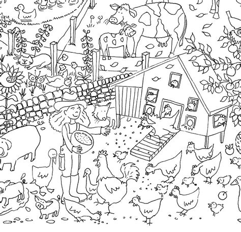Farm Colouring In Poster By Really Giant Posters Coloring Posters