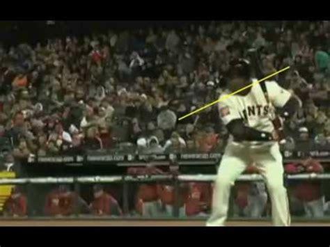 barry bonds swing analysis barry bonds baseball swing unique hitting analysis youtube