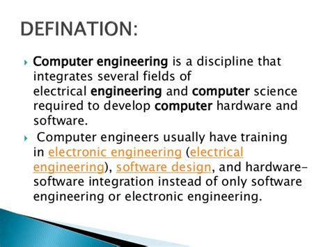 Information about computer engineering