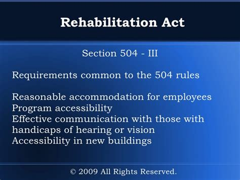 section 504 reasonable accommodation guide to disability rights laws