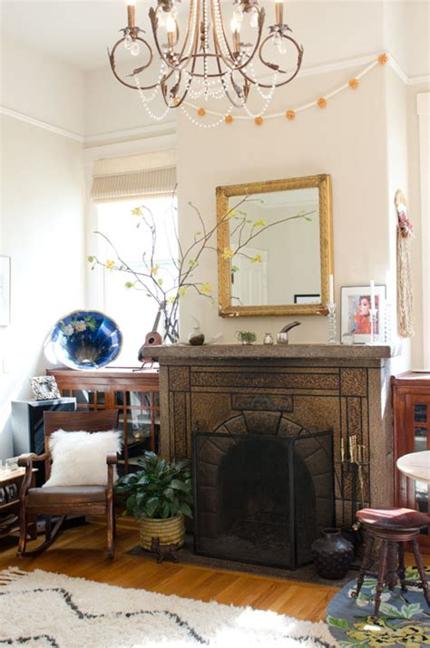 san francisco one bedroom apartment visually interested mantel space fireplace design sponge