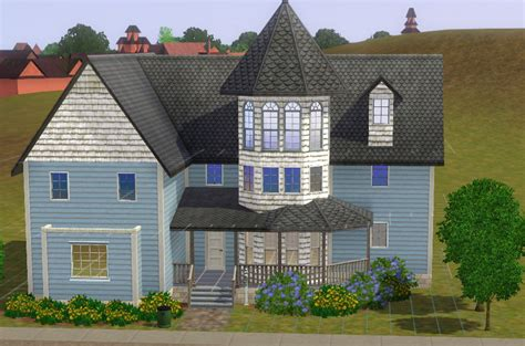 Queen Anne Victorian House Plans mod the sims help with diagonal roof