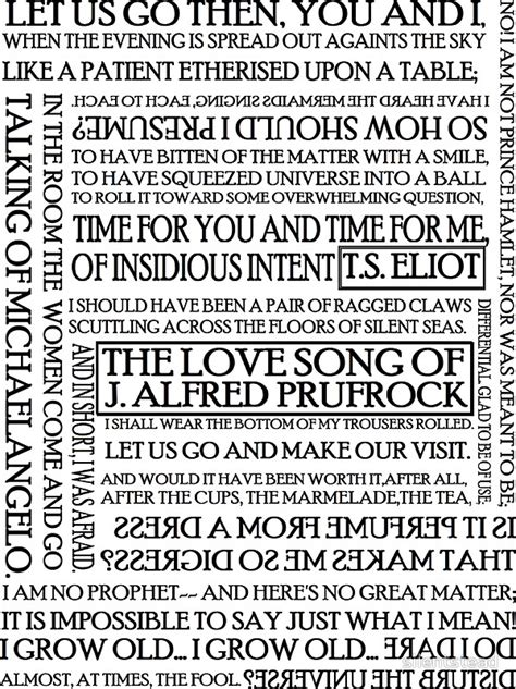themes of the lovesong of j alfred prufrock quot the love song of j alfred prufrock quot stickers by