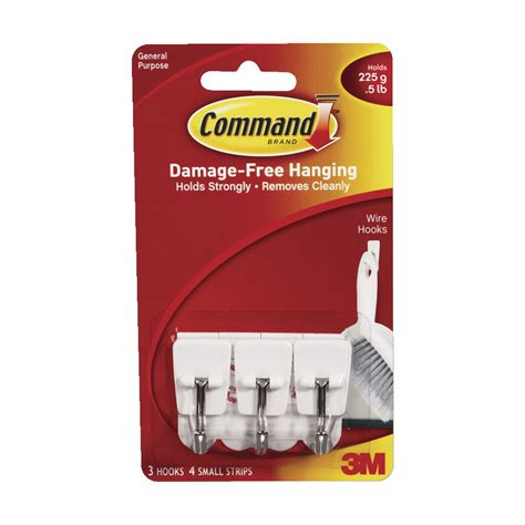 3m command 3 wire hooks w t 4 clear strips blue ace 3m command small wire general purpose hooks holds 1 2 lb