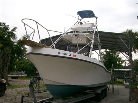 mako boats pics 1986 28 ft mako new pics added the hull truth boating