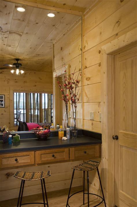 Rustic Bedroom Vanity by Bedroom Vanity In Rustic Log Home Eclectic