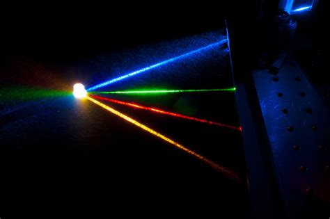 high quality white light produced by four color laser source