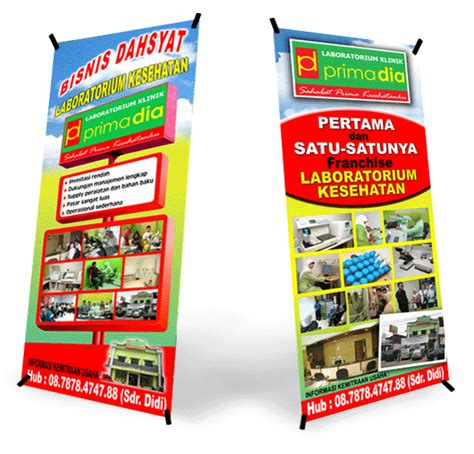 Mini X Banner Agen Brilinks Media Promosi xbanner kediri