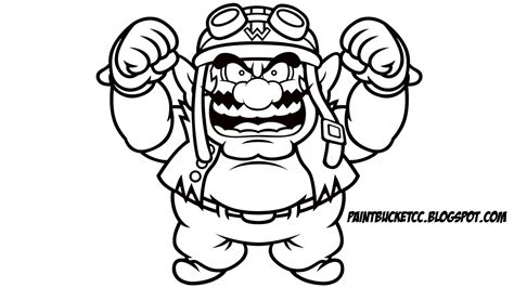 Paint Bucket Coloring Pages And Pixel Art Wario Wario Coloring Pages