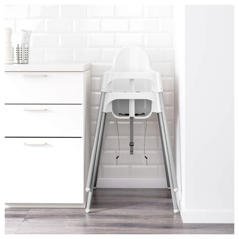 Ikea Antilop antilop highchair with safety belt white silver colour ikea