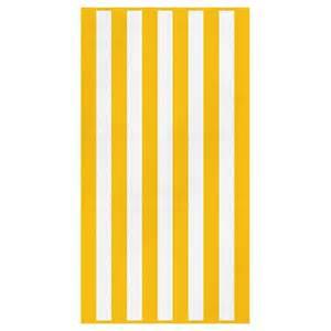 canningvale cabana stripe beach towel yellow