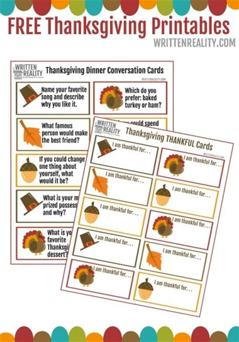 printable thanksgiving food cards thanksgiving dinner conversation starters written reality