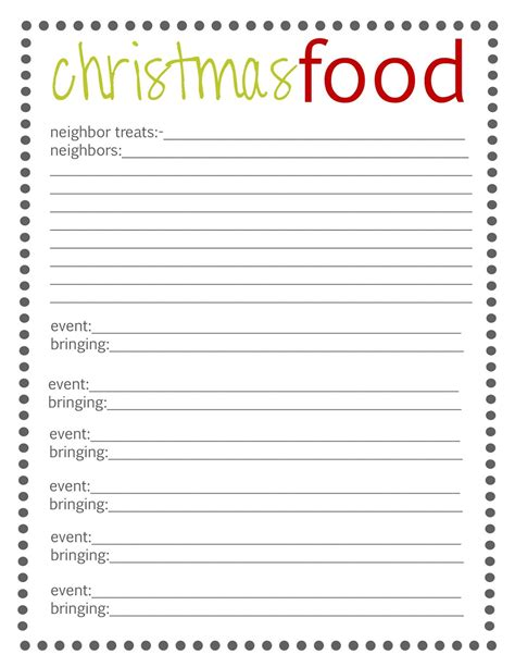 christmas sign up sheet free potluck sign up template simple loving printable