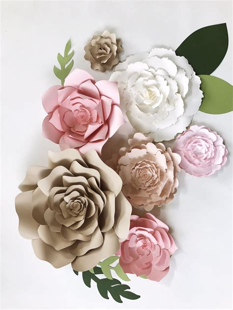 Large Paper Flowers - paper flower wall decor large paper flower backdrop