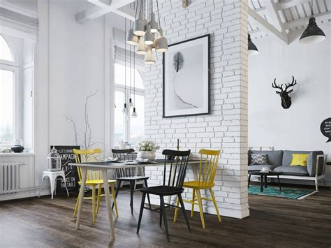 Contemporary Glass Dining Room Tables by Small Modern Loft In Prague With Scandinavian Style Decor