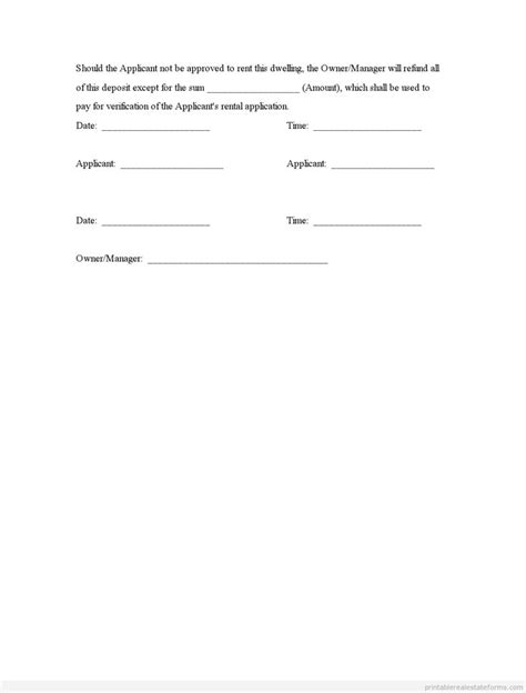 earnest money deposit agreement template earnest money deposit agreement template 28 images