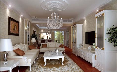 posh home interior posh drawing room interior with chandelier 3d model max