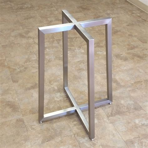 stainless steel table bases dining apollo table bases custom metal home