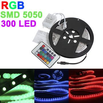 Led 5050 Rgb Ip33 Indoor Flasher Trafo 5m 5050 smd rgb non waterproof 300 led light 12v dc us 8 99 sold out