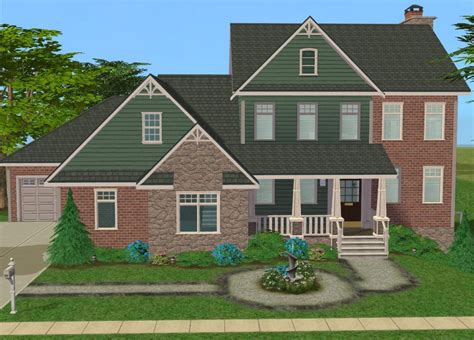 2 family house mod the sims 4 bedroom craftsman style family home