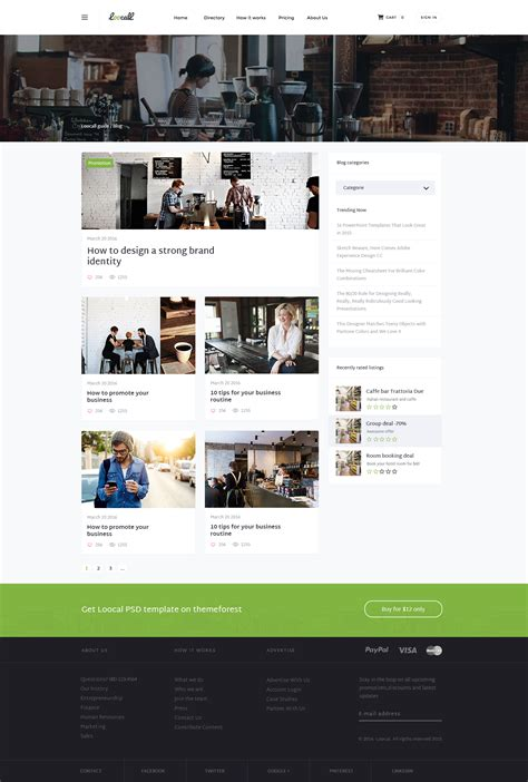 themeforest blog listing loocall business directory by codenpixel themeforest
