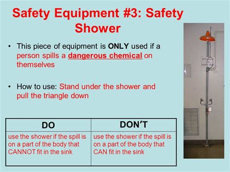 Can You Use A In The Shower by Classroom Safety Equipment Ppt