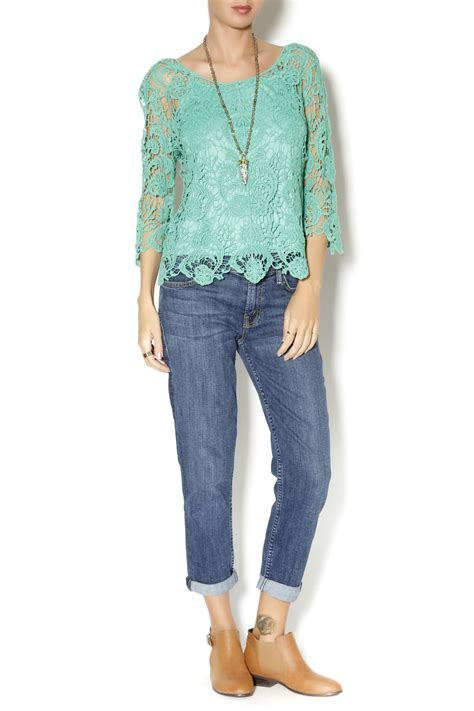 Dnesya Lace Top B L F adiva crochet lace top from by the dragonfly