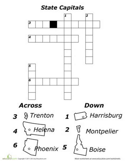 usa today crossword results states and capitals crossword puzzle school worksheets