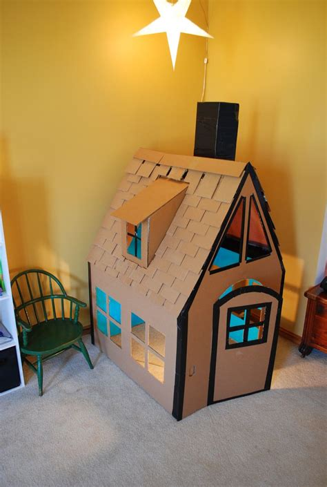 Playhouse Made From Cardboard Playhouse Ideas Pinterest Cardboard Cottage Playhouse