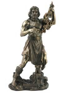 god statue hephaestus blacksmith god statue