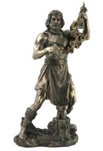 god statues hephaestus blacksmith god statue