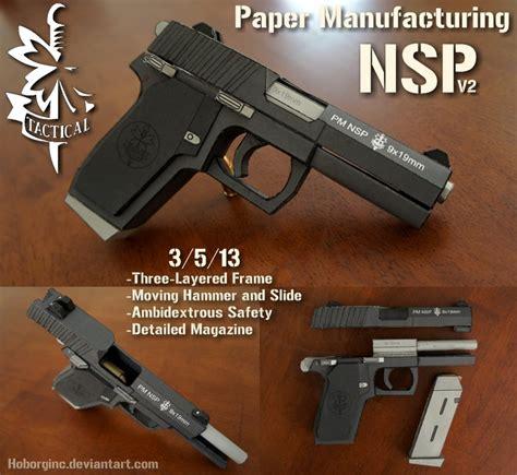 Pistol Papercraft - pm nsp v2 black by hoborginc on deviantart