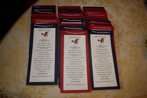 eagle court of honor program template eagle scout ceremony programs templates eagle scout
