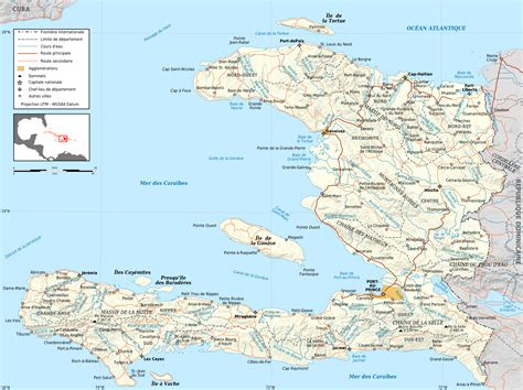 Map Of Haiti With Major Cities