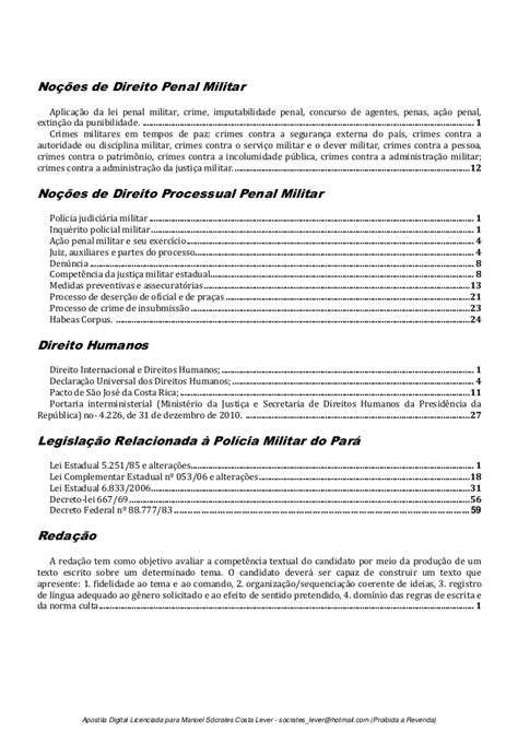 Concurso Polícia Militar do Pará - Oficial