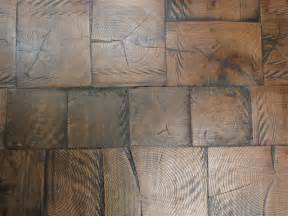 reclaimed log end wood tile flooring 8