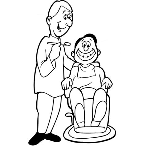 Dentist Coloring Page dental coloring pages coloringpagesabc