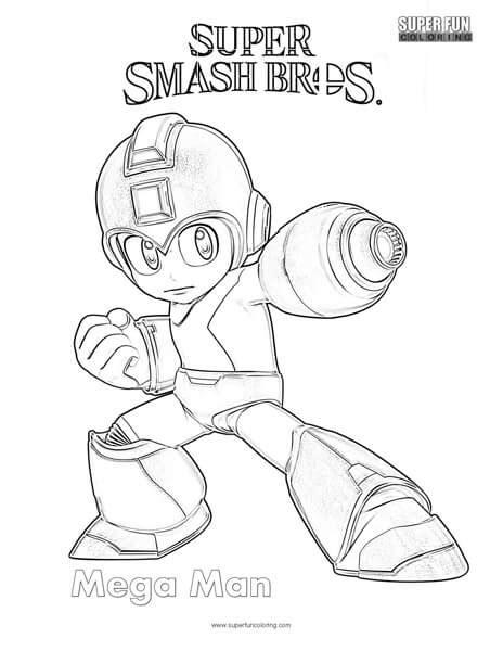 smash bros coloring pages mega smash brothers coloring page