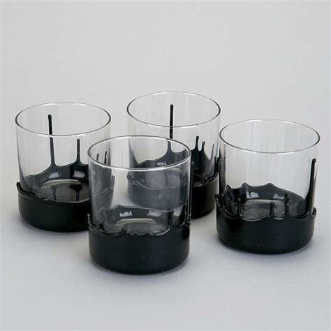 Barware Glasses Gentleman S Glassware Dipped Whiskey Glasses So