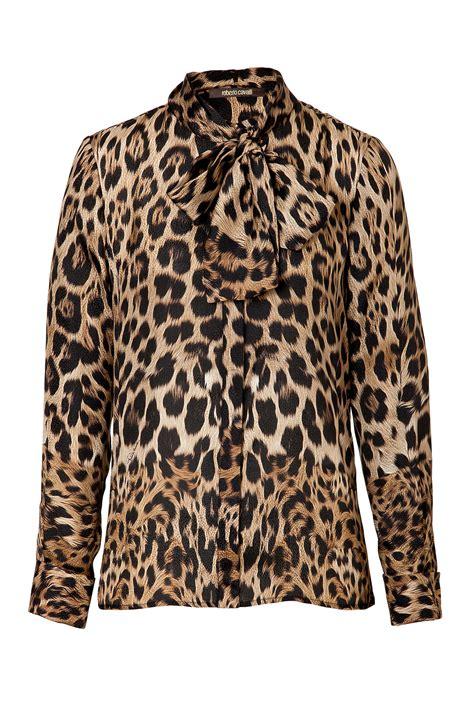 Roberto Cavalli Zebra Print Dome by Roberto Cavalli Leopard Print Tie Neck Blouse Animal